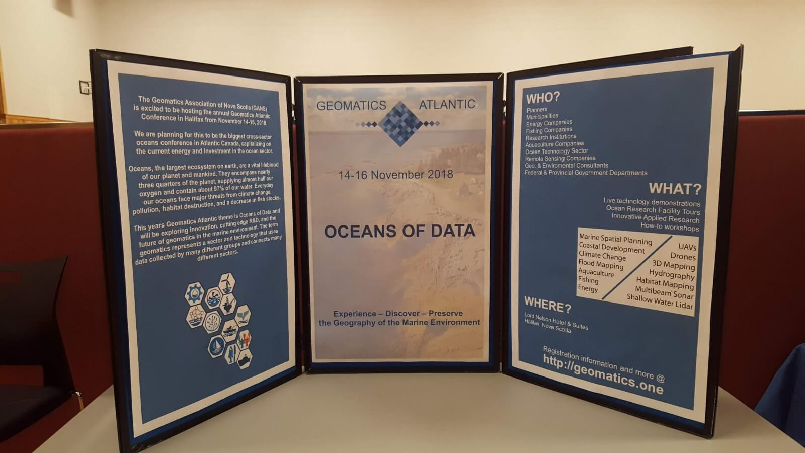 Geomatics Atlantic Poster Display